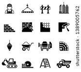 construction flat icon set with ... | Shutterstock .eps vector #1389005762