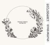 hand drawn floral bouquetes... | Shutterstock .eps vector #1389007235