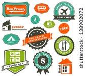 travel labels set | Shutterstock .eps vector #138902072