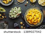 arabic cuisine  traditional... | Shutterstock . vector #1389027542
