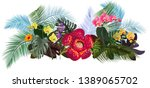 panoramic view with tropical... | Shutterstock .eps vector #1389065702