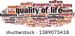 quality of life cloud concept.... | Shutterstock .eps vector #1389073418