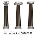old style greece column. eps10... | Shutterstock .eps vector #138908252