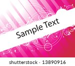 sample text on red and pink... | Shutterstock .eps vector #13890916