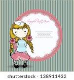 vector illustration  romantic... | Shutterstock .eps vector #138911432