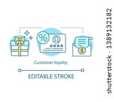 customer loyalty concept icon.... | Shutterstock .eps vector #1389132182