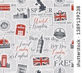 vector seamless pattern on uk... | Shutterstock .eps vector #1389139238