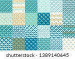 geometric ornaments collection. ... | Shutterstock .eps vector #1389140645