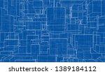 vector abstract boxes... | Shutterstock .eps vector #1389184112