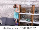 Cute Toddler Girl Standing On...