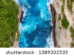 aerial view at sea and rocks....   Shutterstock . vector #1389202535