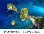 aerial view at sea and rocks....   Shutterstock . vector #1389202538