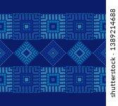 ethnic boho seamless pattern.... | Shutterstock .eps vector #1389214688