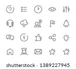 set of web icons  such as...   Shutterstock .eps vector #1389227945