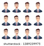 businessman emotions. male... | Shutterstock .eps vector #1389239975