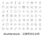set of vector line icons of... | Shutterstock .eps vector #1389241145