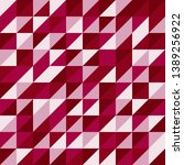 red and pink triangular pattern ... | Shutterstock .eps vector #1389256922