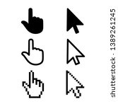 set of flat modern cursor icons ... | Shutterstock .eps vector #1389261245