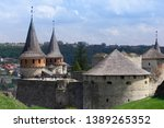 ancient stony fortress in... | Shutterstock . vector #1389265352