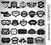 vintage design elements. labels