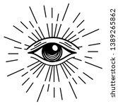 eye of providence in outline... | Shutterstock .eps vector #1389265862