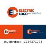 electric logo design template... | Shutterstock .eps vector #1389271775