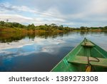 sail on a wooden boat on the... | Shutterstock . vector #1389273308