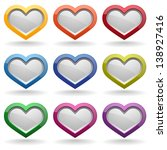 Colorful Glossy Heart Buttons
