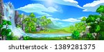 vector natural landscape.... | Shutterstock .eps vector #1389281375
