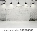 grungy wall with lamps | Shutterstock . vector #138928388