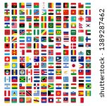 square flags of the world ... | Shutterstock .eps vector #1389287462