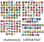 square flags of the world ... | Shutterstock .eps vector #1389287465