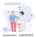 children vaccination concept... | Shutterstock .eps vector #1389303905
