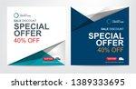 square web banner design for... | Shutterstock .eps vector #1389333695