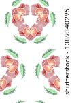 floral seamless background... | Shutterstock .eps vector #1389340295