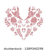floral pattern   neck line... | Shutterstock .eps vector #1389340298