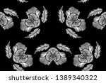 floral seamless background... | Shutterstock .eps vector #1389340322