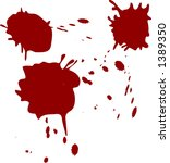 grunge paint splashes drips and ... | Shutterstock .eps vector #1389350