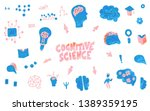 cognitive science concept. set... | Shutterstock .eps vector #1389359195