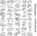 Vector Illustration Of Food...