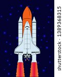 space shuttle. spaceship and... | Shutterstock .eps vector #1389368315