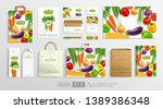 top view food package with and... | Shutterstock .eps vector #1389386348