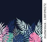 beautifil palm tree leaf ... | Shutterstock . vector #1389390272