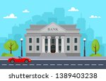 bank building with urban... | Shutterstock .eps vector #1389403238