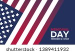 memorial day in united states.... | Shutterstock .eps vector #1389411932
