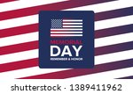 memorial day in united states.... | Shutterstock .eps vector #1389411962