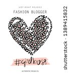 fashion blogger  girl boss text ... | Shutterstock .eps vector #1389415832