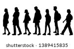 set of vector silhouettes of ... | Shutterstock .eps vector #1389415835