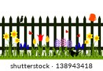Vector Picket Fence With Spring ...