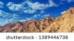 red and yellow stony desert... | Shutterstock . vector #1389446738